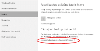 Cum faci o copie de siguranta si restaurare din windows 10
