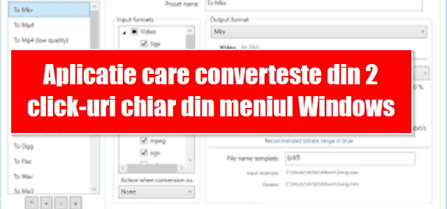 Aplicatie care converteste din 2 click-uri chiar din meniul Windows