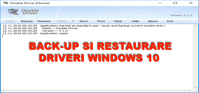 Metoda usoara de backup si restaurare la driveri in Windows 10