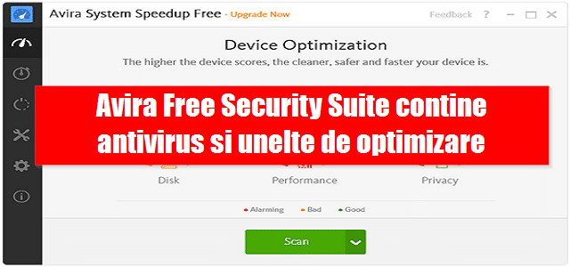 Avira Free Security Suite contine antivirus si unelte de optimizare