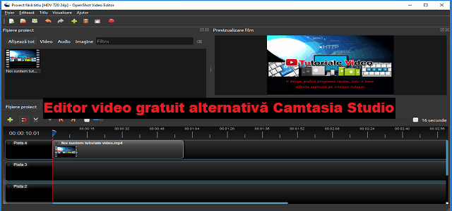 OpenShot Video Editor editor video gratuit alternativă Camtasia Studio