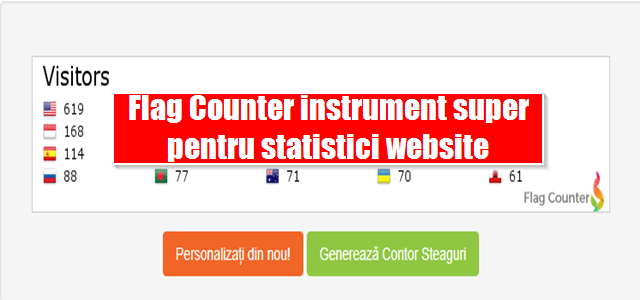 Flag Counter instrument super pentru statistici website