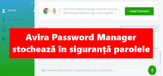 Avira Password Manager stochează în siguranță parolele